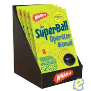 The Wham-O® SuperBall® Operator Manual 4-copy Counter Display by Cider Mill Press, 9781604330304