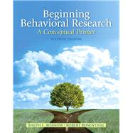 Beginning Behavioral Research...,Rosnow, Ralph L.; Rosenthal,...,9780205810314