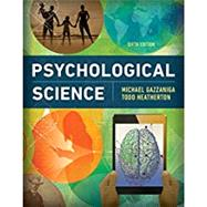 Psychological Science,Gazzaniga, Michael,9780393640366