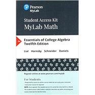 MyLab Math with Pearson eText...,Lial, Margaret L.; Hornsby,...,9780134860381