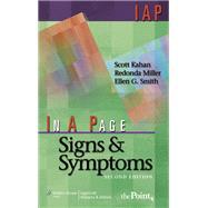 In A Page Signs & Symptoms by Kahan, Scott; Miller, Redonda; Smith, Ellen G., 9780781770439