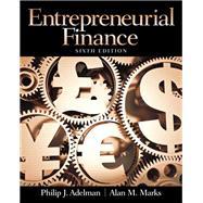 Entrepreneurial Finance,Adelman, Philip J.; Marks,...,9780133140514