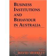 Business Institutions and...,Merrett,David;Merrett,David,9780714680552