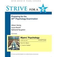 Strive for a 5: Preparing for...,Myers, David G.; DeWall, C....,9781319070557