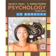 Psychology in Modules,Myers, David G.; DeWall, C....,9781319050610
