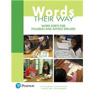 Words Their Way Word Sorts for Syllables and Affixes Spellers by Johnston, Francine; Invernizzi, Marcia; Bear, Donald R.; Templeton, Shane, 9780134530710