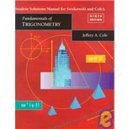 Student Solutions Manual for...,Swokowski, Earl; Cole,...,9780534360795