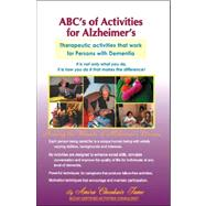 ABC's of Activities for Alzheimers by Tame, Amira Choukair, 9781412060844