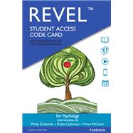 Revel for Psychology Core...,Zimbardo, Philip G.; Johnson,...,9780134190884