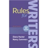 Rules for Writers With 2020...,Hacker, Diana; Sommers, Nancy,9781319361303