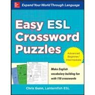 Easy ESL Crossword Puzzles,Gunn, Chris,9780071821346