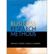 Business Research Methods,Cooper, Donald; Schindler,...,9780073521503