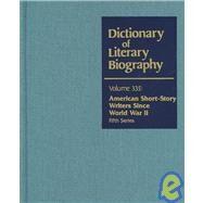 American Short-Story Writers Since World War II by Lee, Richard E.; Meanor, Patrick, 9780787681531