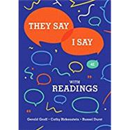 They Say / I Say: The Moves...,Graff, Gerald; Birkenstein,...,9780393631685