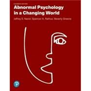 Abnormal Psychology in a...,Nevid, Jeffrey S; Rathus,...,9780135821688