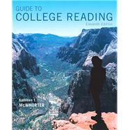 Guide to College Reading,McWhorter, Kathleen T.,9780134111711