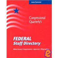 Federal Staff Directory: White House, Departments, Agencies, Biographies by Congessional Quarterly, Inc., 9780872891777