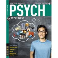 PSYCH 4 (with CourseMate...,Rathus, Spencer A.,9781305091924