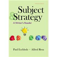 Subject and Strategy: A...,Eschholz, Paul; Rosa, Alfred,9781319131951
