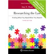 Researching the Law: Finding What You Need When You Need It (Looseleaf) [Connected Casebook] (Aspen Coursebook) 3rd Edition by Sloan, Amy E., 9781543821987