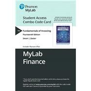 MyLab Finance with Pearson eText -- Combo Access Card -- for Fundamentals of Investing by Zutter, Chad J.; Smart, Scott B., 9780135662007