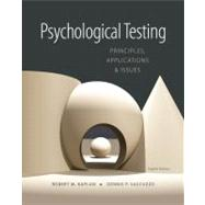 Psychological Testing...,Kaplan, Robert M.; Saccuzzo,...,9781133492016