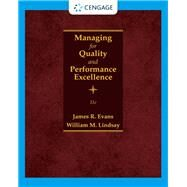 Managing for Quality and...,Evans, James R.; Lindsay,...,9780357442036