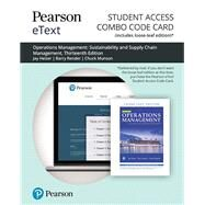 Pearson eText for Operations Management Sustainability and Supply Chain Management -- Combo Access Card by Heizer, Jay; Render, Barry; Munson, Chuck, 9780135662052