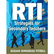 RTI Strategies for Secondary...,Susan Gingras Fitzell,9781412992220