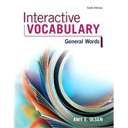 Interactive Vocabulary,Olsen, Amy E.,9780134122373