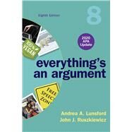 Everything's an Argument With...,Lunsford, Andrea A.;...,9781319362386