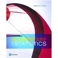 Elementary Statistics,Triola, Mario F.,9780134462455