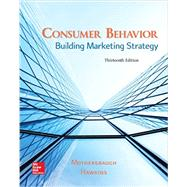 Consumer Behavior: Building...,Mothersbaugh, David; Hawkins,...,9781259232541