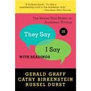 They Say / I Say : The Moves...,GRAFF,GERALD,9780393912753