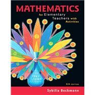 Mathematics for Elementary...,Beckmann, Sybilla,9780134392790
