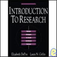 Introduction to Research by Depoy, Elizabeth, Ph.D.; Gitlin, Laura N., Ph.D., 9780801662843