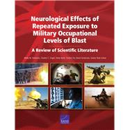 Neurological Effects of Repeated Exposure to Military Occupational Levels of Blast A Review of Scientific Literature by Simmons, Molly M.; Engel, Charles C.; Hoch, Emily; Orr, Patrick; Anderson, Brent; Shah Azhar, Gulrez, 9781977402929