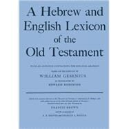 A Hebrew and English Lexicon...,Gesenius, H. F. W.; Robinson,...,9780198643012