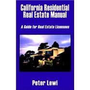 California Residential Real...,Lewi, Peter,9781589393097