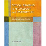 Critical Thinking in...,Bensley, D. Alan,9781319063146