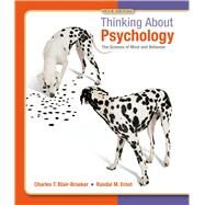Thinking About Psychology,Blair-Broeker, Charles T.;...,9781429233262