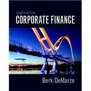 Corporate Finance,Berk, Jonathan; DeMarzo, Peter,9780134083278
