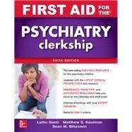 First Aid for the Psychiatry...,Ganti, Latha; Kaufman,...,9781260143393