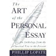 The Art of the Personal Essay,LOPATE, PHILLIP,9780385423397