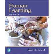 Human Learning,Ormrod, Jeanne Ellis,9780134893662