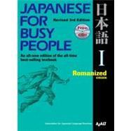 Japanese for Busy People I :...,AJALT,9781568363844