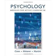 Psychology Modules for Active...,Coon, Dennis; Mitterer, John...,9781305964112