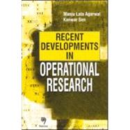 Recent Developments in Operational Research by Agarwal; Manju Lata, 9780849324284