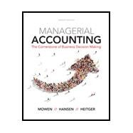 Bundle: Managerial...,Mowen, Maryanne M.; Hansen,...,9781337384285