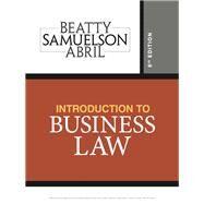 Introduction to Business Law,Beatty, Jeffrey F.;...,9781337404341